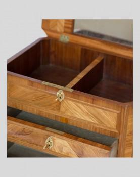 Travailleuse de style Transition en bois de rose