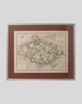 Gravure du plan de la ville et citadelle de Valenciennes