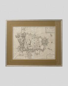 Gravure du plan de la Ville et Citadelle de Cambrai