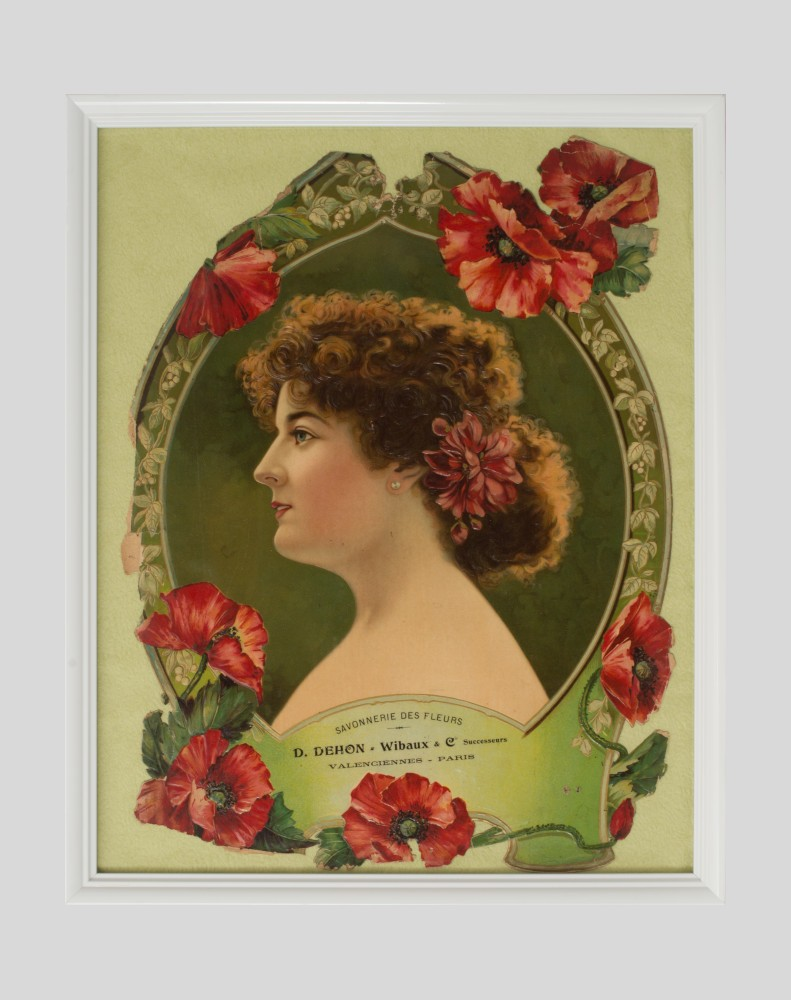 Chromolithographie publicitaire Savonnerie des Fleurs