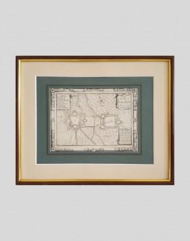 Gravure du plan de la Ville de Bouchain
